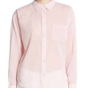 NEW Elizabeth & James 'Carine' Stripe Cotton Shirt